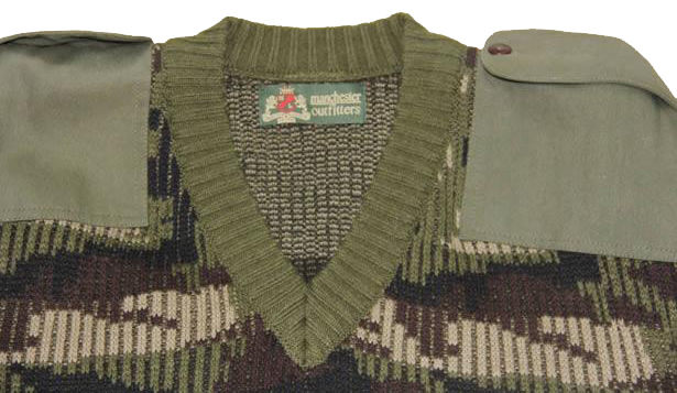 Military Camouflage Wool Jersey