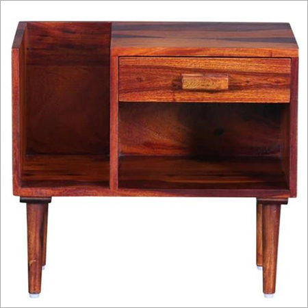 Solid Wood Bedside with Drawer