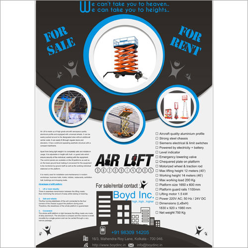 Aerial Work Platform For Sale - Rent