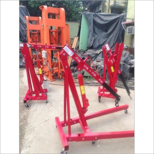 Foldable Hydraulic Floor Crane