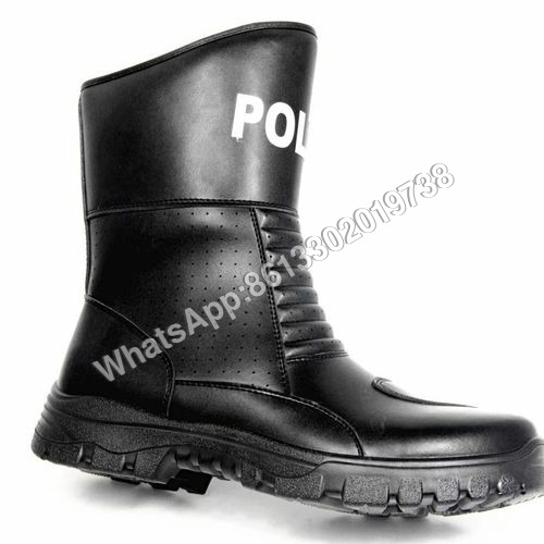 Police Offier PU Rubber Dual Density Sole Rider Boot