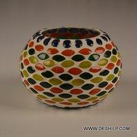 Mosaic Handmade Glass Votive