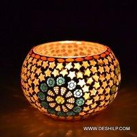 Star Shape Mosaic Candle Votive