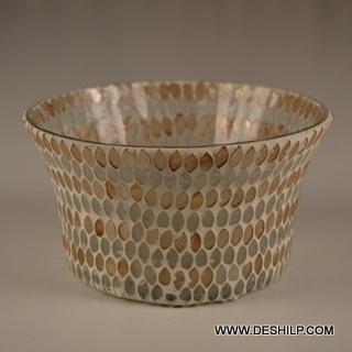 Bowl Shape Glass T Light Candle