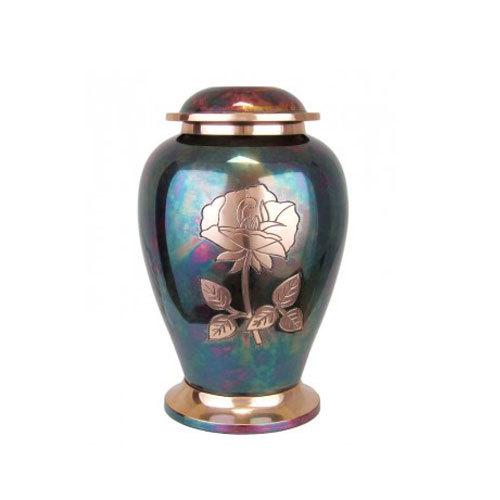 Brass Urn Dove Raku Rose