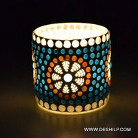 Small T- Light Glass Candle Holder