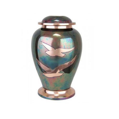 Brass Urn Dove Raku Going Home
