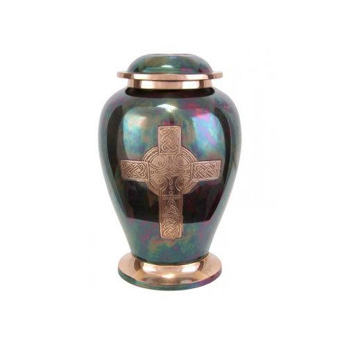 Brass Urn Dove Raku Cross
