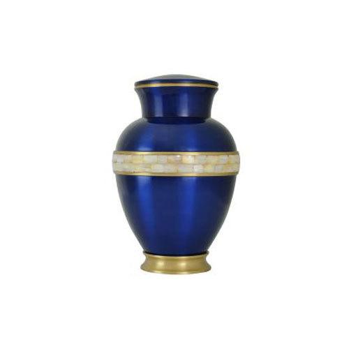 Brass Urn Mop Blue