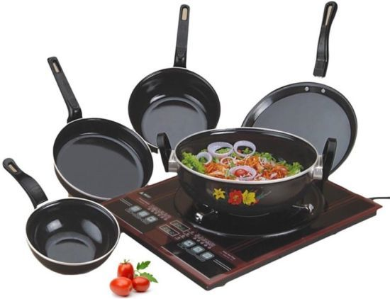 Enamel Cookware Black 5 pcs Set