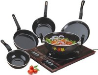 Enamel Cookware Black 5 pcs Set