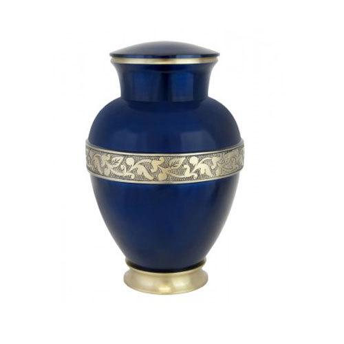 Brass Urn Cosmos Blue