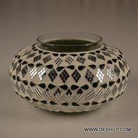 Matki Shape Glass Candle Holder