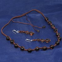 Jaipur Rajasthan India 4-10mm Beads Smoky Quartz 925 Sterling Silver Adjustable Necklace Set Handmade Jewelry Manufacturer
