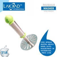 Stainless Steel Potato Vegetable Pav Bhaji Masher