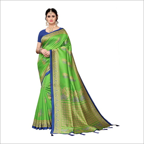 Mysore Art Silk Saree With Latkan