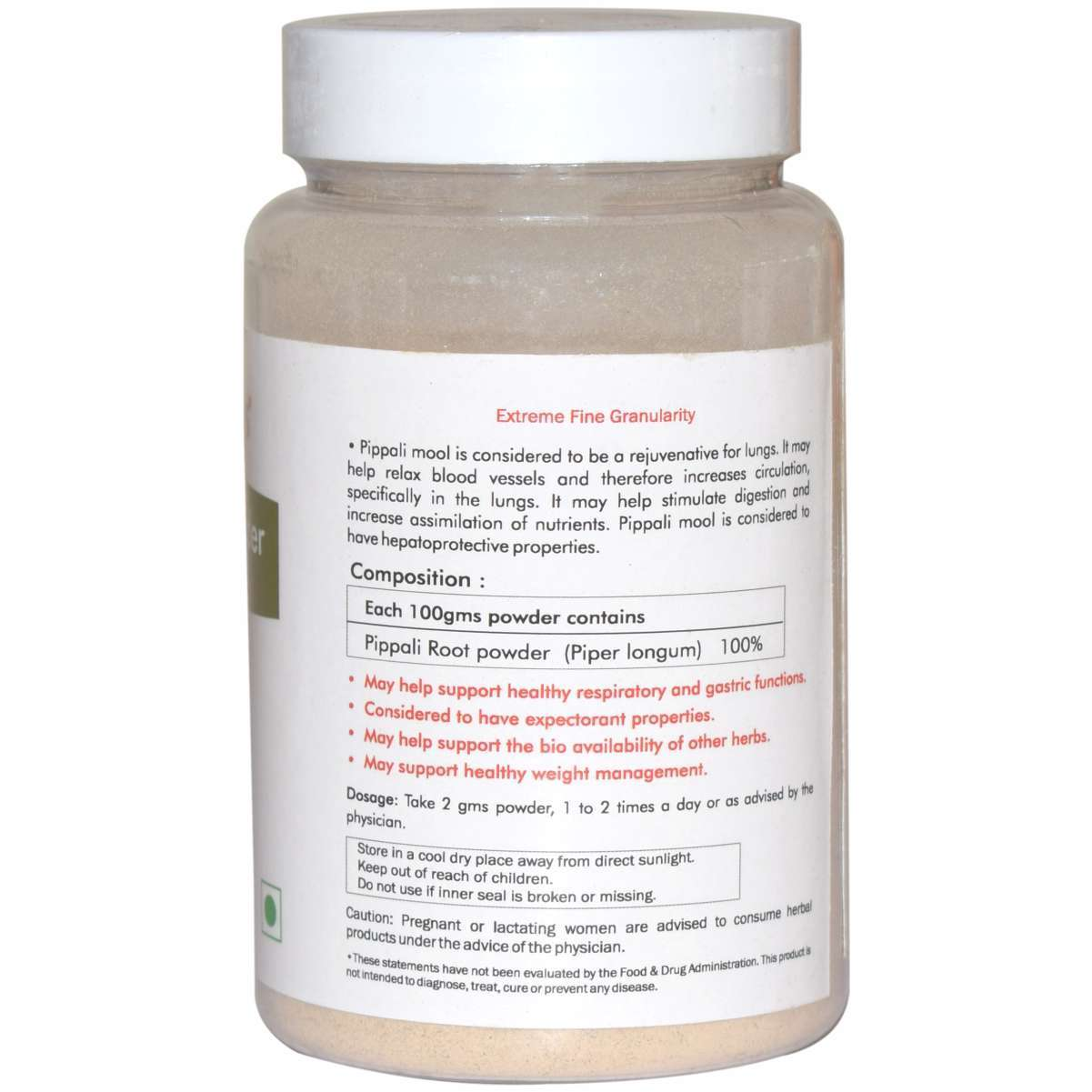 Ayurvedic Pippali Root Powder 100gm for Immunity Booster (Pack of 2)