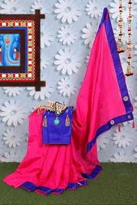 Zoya Silk Saree With Designer Lace