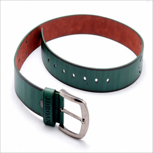 Mens Green Leather Belt