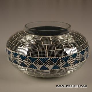 Glass Mosaic Handmade Candle Holder