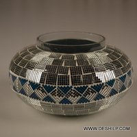 Glass Mosaic Handmade Candle Holder