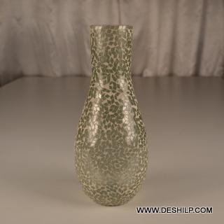 Mosaic Handmade Glass Flower Vase