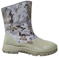 Army Camouflage PU Rubber Dual Density Desert Boots