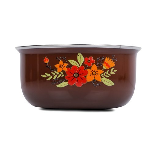 Brown Ceramic/ Enamel Saucepan