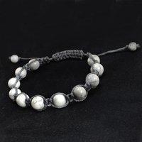 6-8mm Round Jaipur Rajasthan India Beaded Howlite Adjustable Handmade Jewelry Manufacturer Bracelet