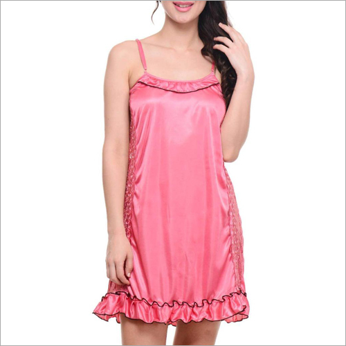 Ladies Nighty Plain Satin Fabric