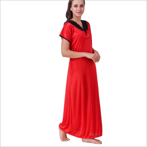 Ladies Nighty Bright Satin Fabric