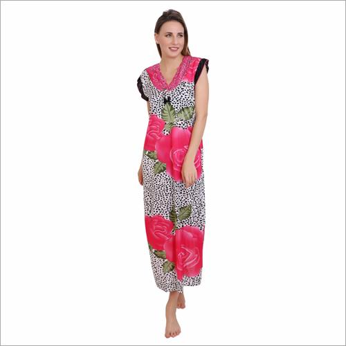 Ladies Nighty Printed Lycra Fabric