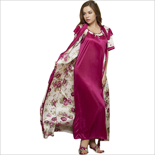 Ladies Nighty Polyester Plain Fabric