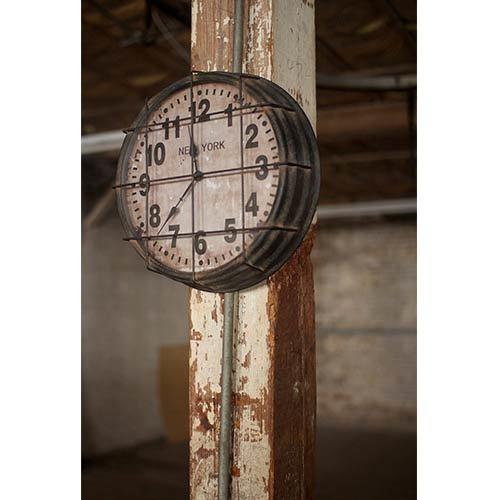 Black and White Metal Clock