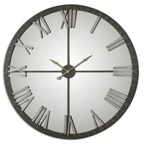 Bronze Light Grey Wall Clock