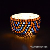 Small Glass T Light Candle Holder