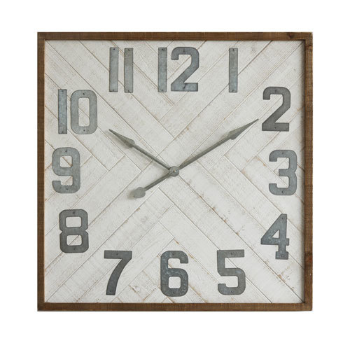 Wood and Metal Wall Clock
