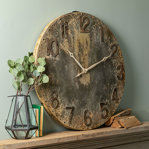 Rustic Gray Wall Clock