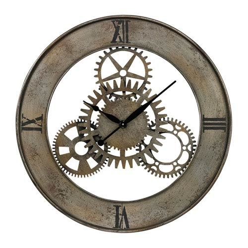 Silver and Antique Wall Clock