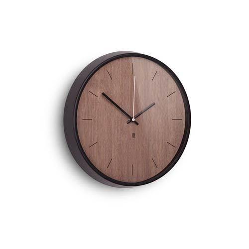 Black and Walnut Wall Clock
