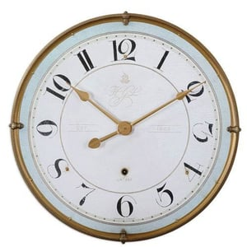 Antique Gold Wall Clock
