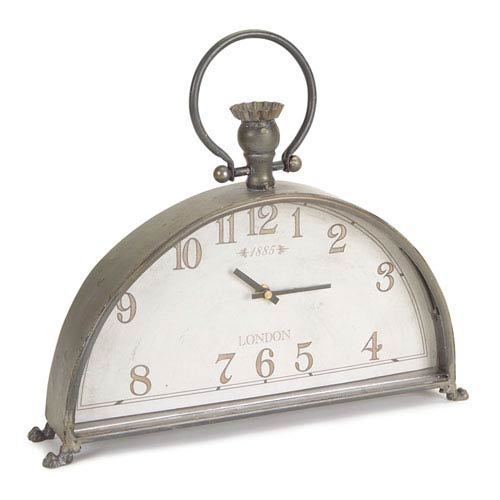 Gray Mantle Clock