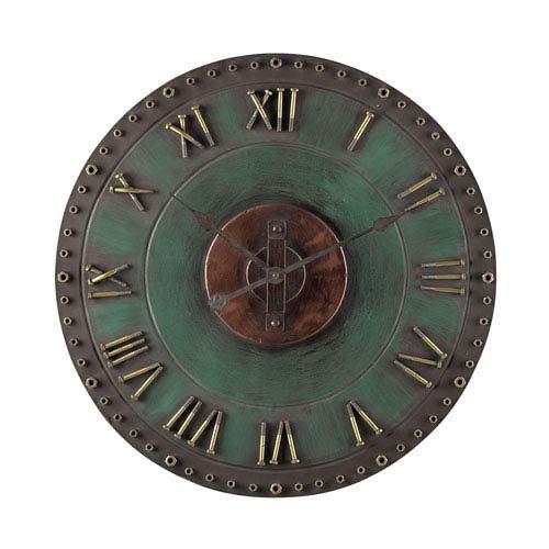 Green Round Wall Clock