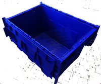 47L Plastic Safety Tote Container Boxes with Lids Storage Safety Boxes Moving Boxes 565X385X320mm TSS-TBX5638
