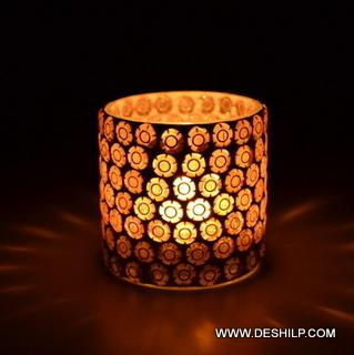 Smaller Glass T Light Candle Holder