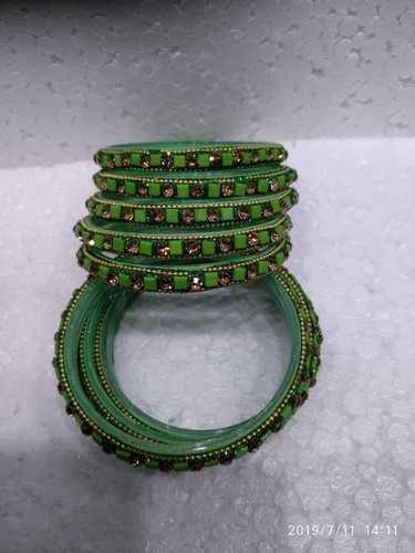 Green Glass Bangles