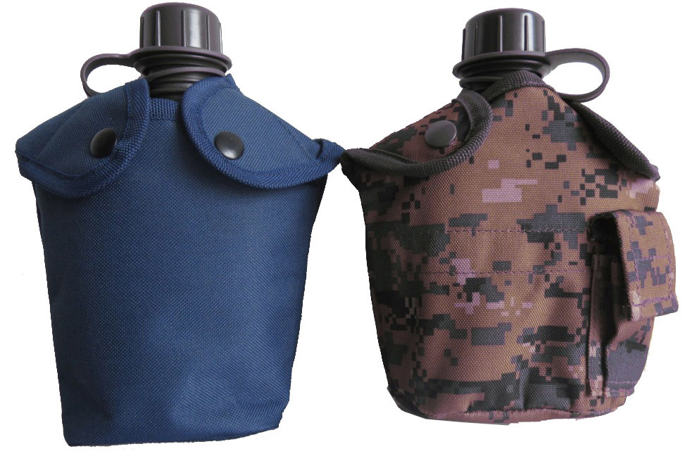 Military Plastic Water Bottle With Aluminum Cup