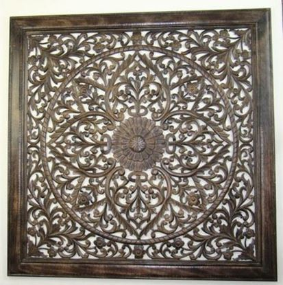 Wooden Carved Wall Panel Hanging