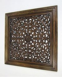 Hand Carved Wooden Wall Hanging