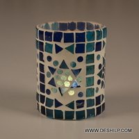 Mosaic Glass Candle Holder